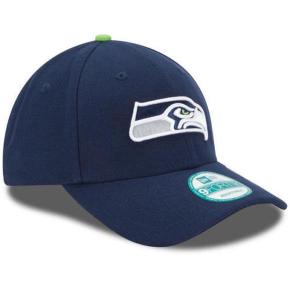 Seattle Seahawks New Era 9FORTY NFL Cap Navy Blue 88d5d7f0e